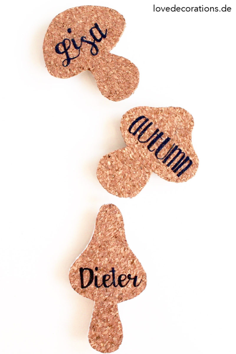 DIY Pilz Namensschild aus Kork | DIY Mushroom Name Tag