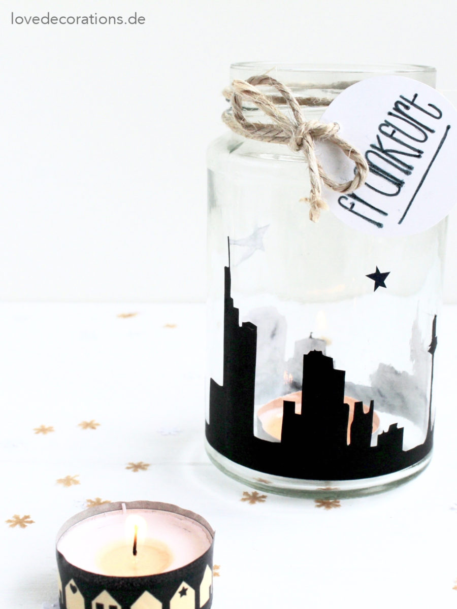 DIY Skyline Teelichtglas | DIY Skyline Jar