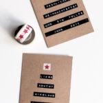 DIY Tannenbaum Weihnachtskarte mit Dymo