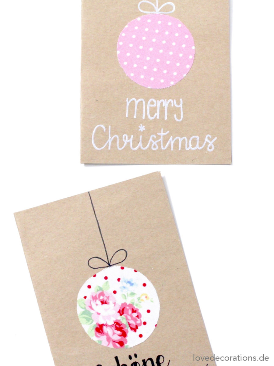 DIY Weihnachtskarte mit Stoff | DIY Christmas Card with Textile