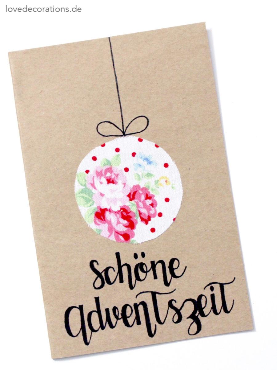DIY Weihnachtskarte mit Stoff | DIY Christmas Card with Textile