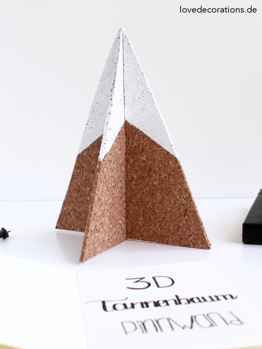 DIY 3D Tannenbaum Pinnwand | DIY 3D Christmas Tree Pinboard