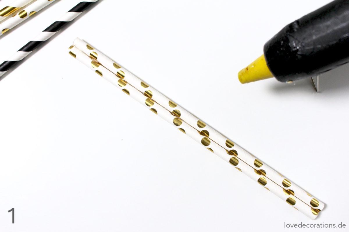 DIY Tannenbaum Weihnachtsanhänger aus Papier-Strohhalmen | DIY Christmas Ornaments made of Paper Straw