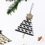 DIY Weihnachtsanhänger aus Papier-Strohhalmen | Blogger-Adventssonntags-Kalender