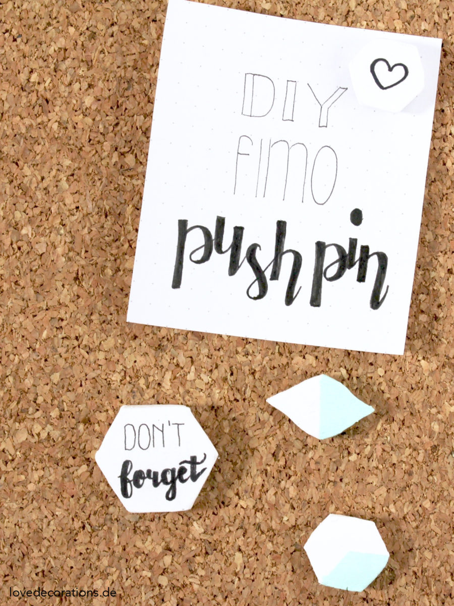 DIY Fimo Push Pin | DIY Clay Push Pin