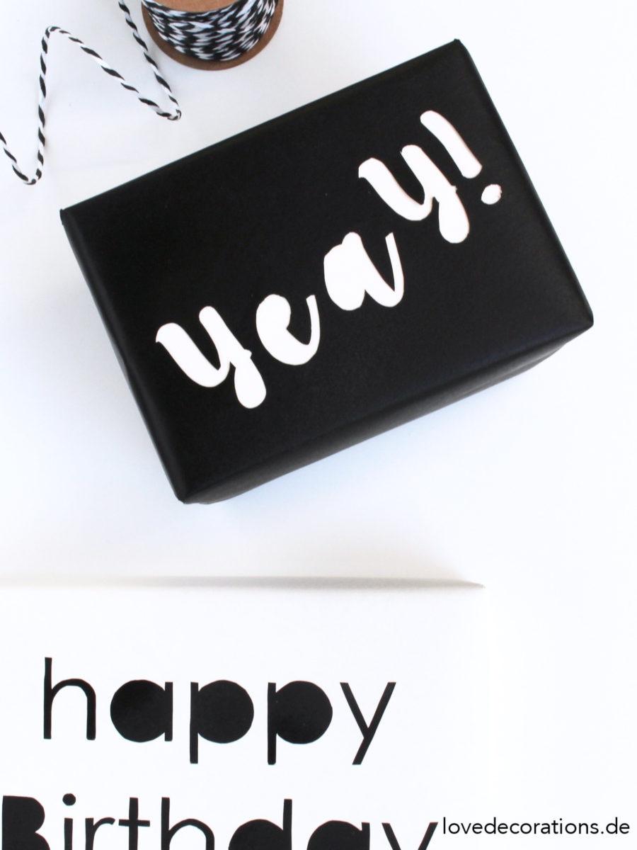 DIY Typo Geschenkverpackung | DIY Typo Gift Wrapping