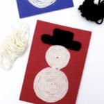 DIY Woll-Schneemänner – Kunstprojekt aus der Schule
