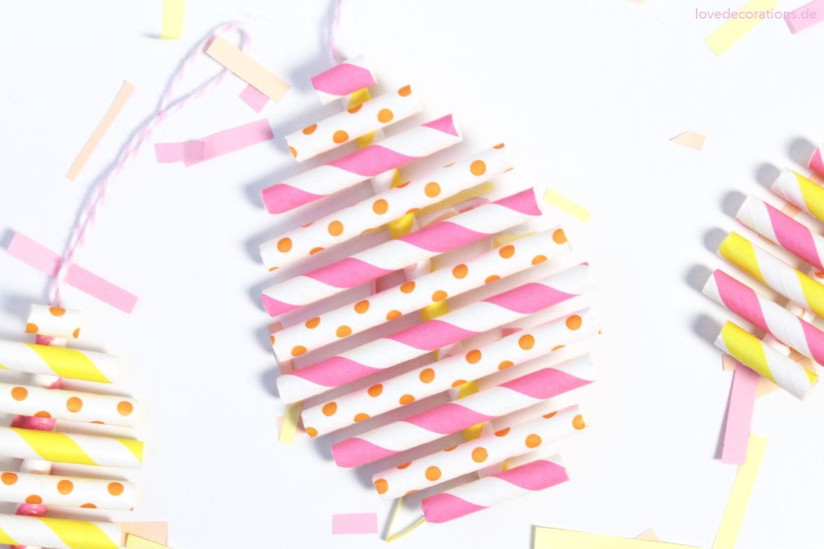 DIY Osterei aus Papierstrohhalmen | DIY Paper Straw Eggs