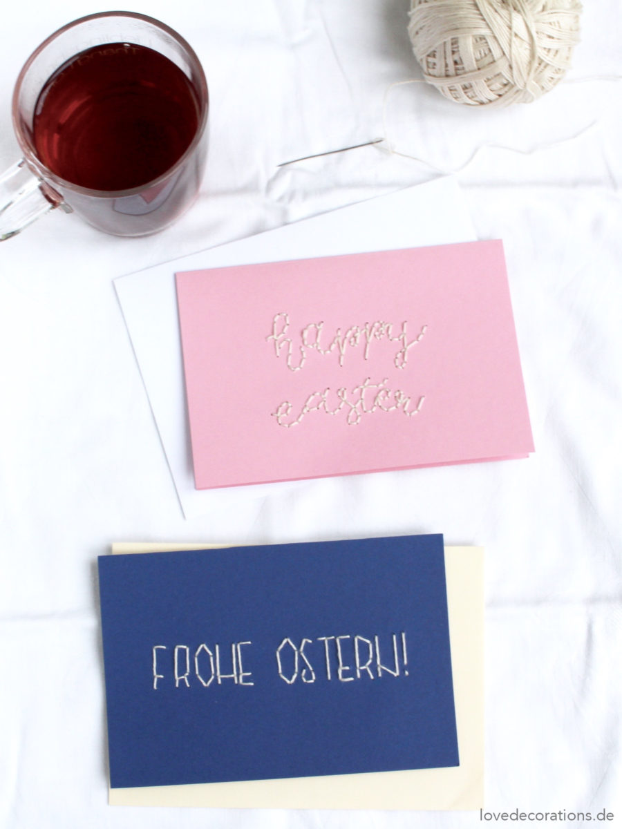 DIY Osterkarte sticken | DIY embroided Easter Card
