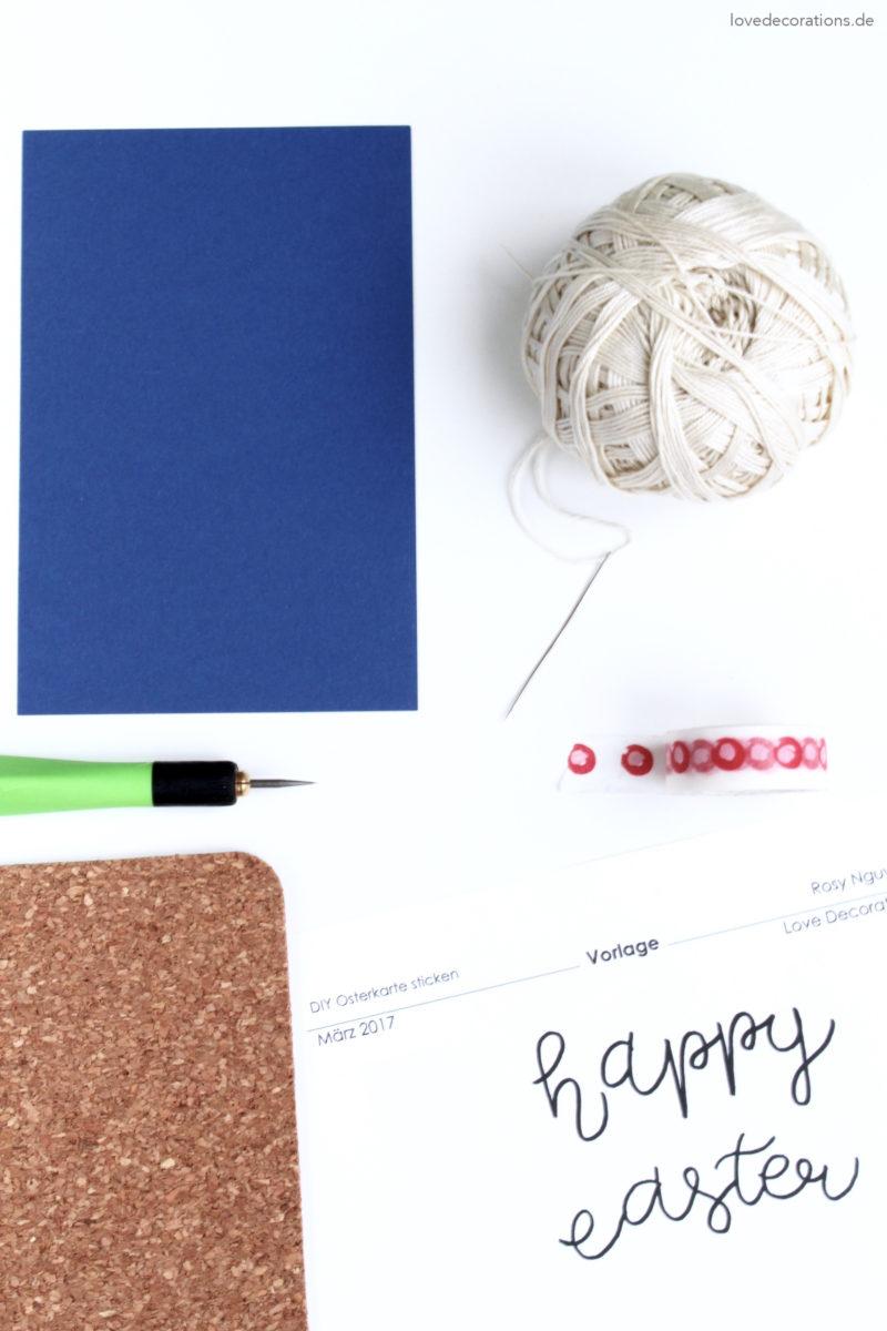 DIY Osterkarte sticken | DIY embroided Easter Card