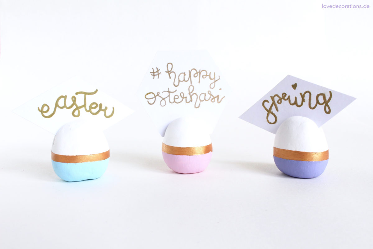 DIY Fimo Ei-Kartenhalter | DIY Egg Place Card Holders made of polymer clay