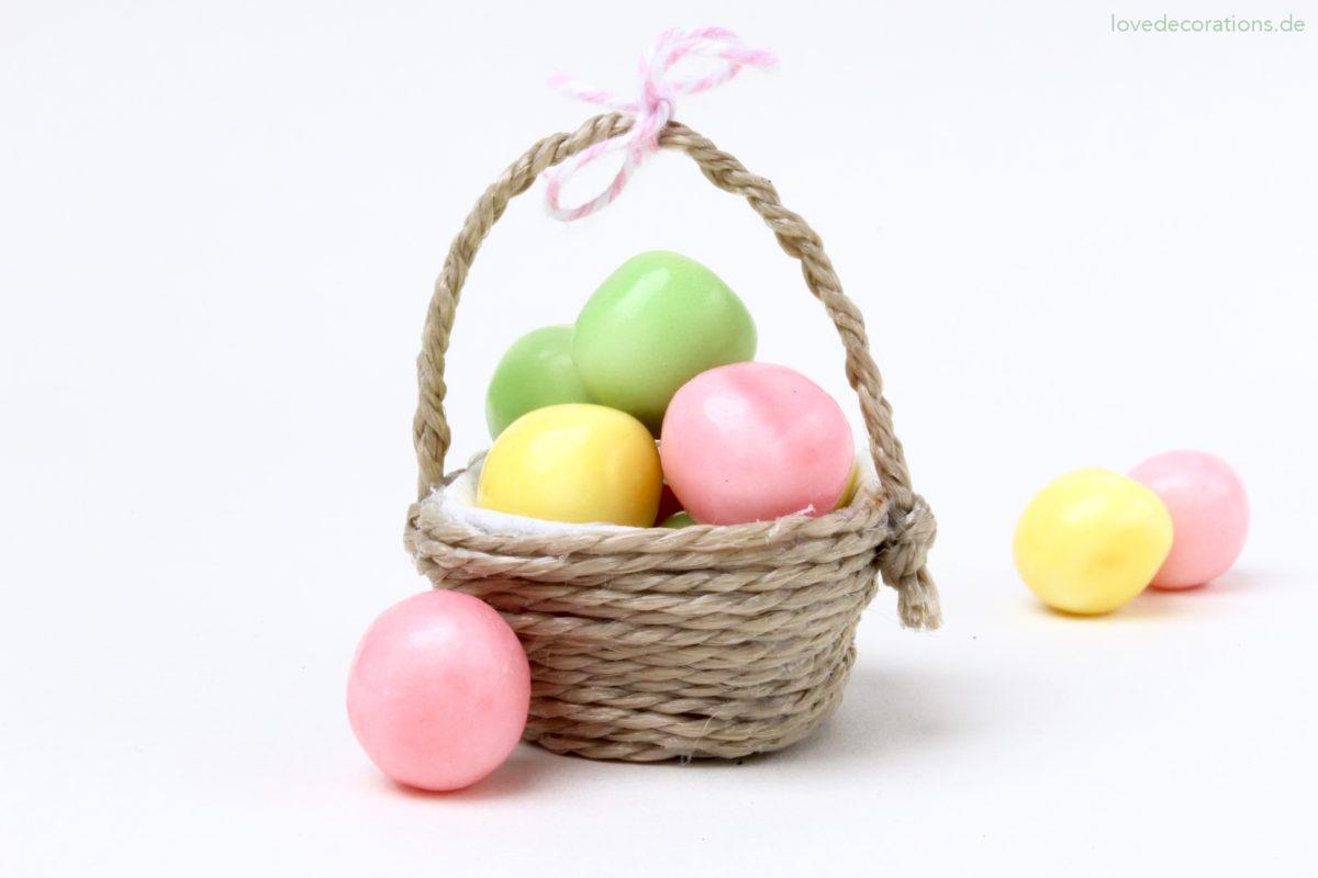 DIY Mini-Körbchen aus Eierkarton für Ostern | DIY Mini Easter Basket