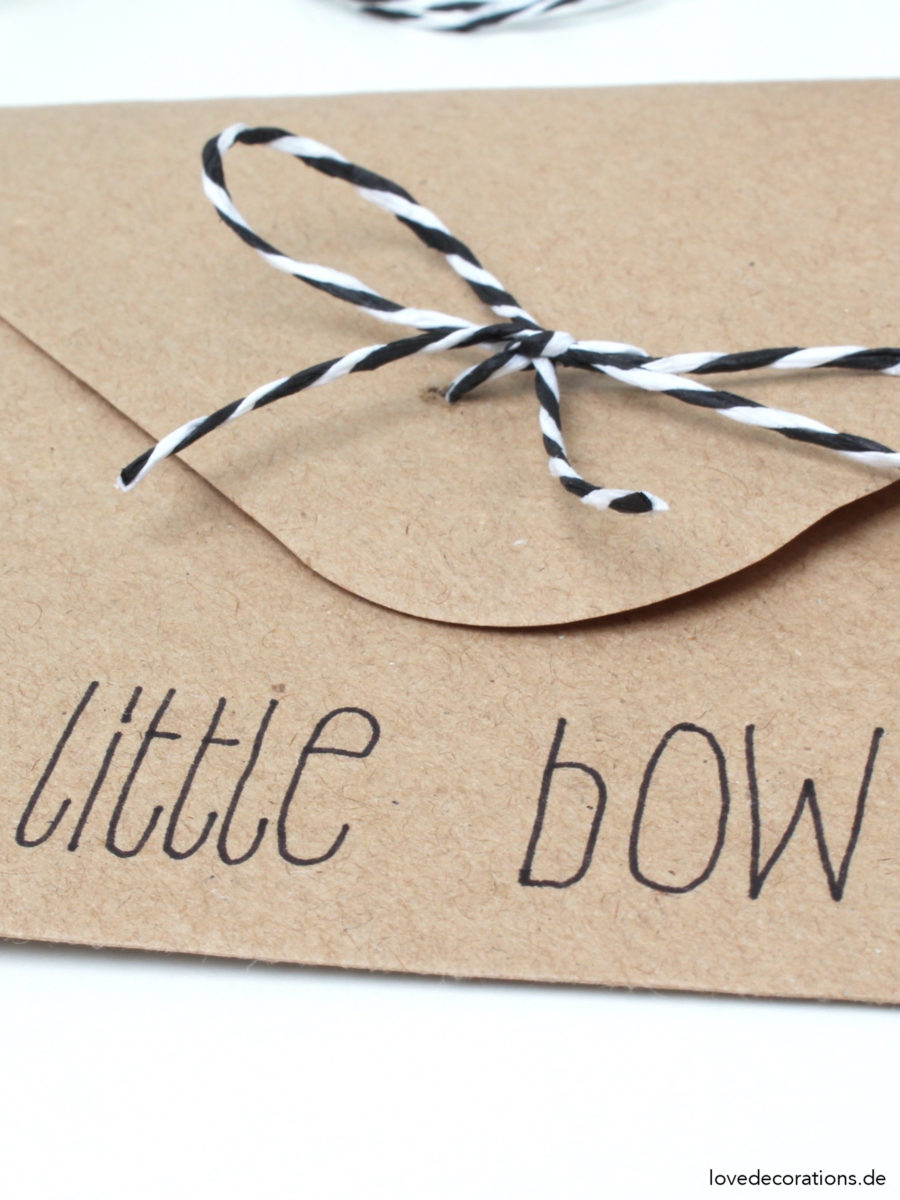 DIY Schleife am Briefumschlag | DIY Envelope Bow