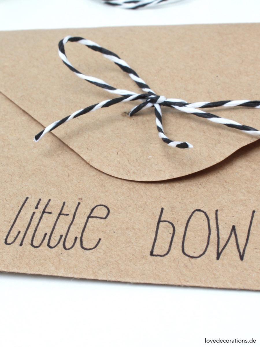 DIY Schleife am Briefumschlag | DIY Envelope Bow