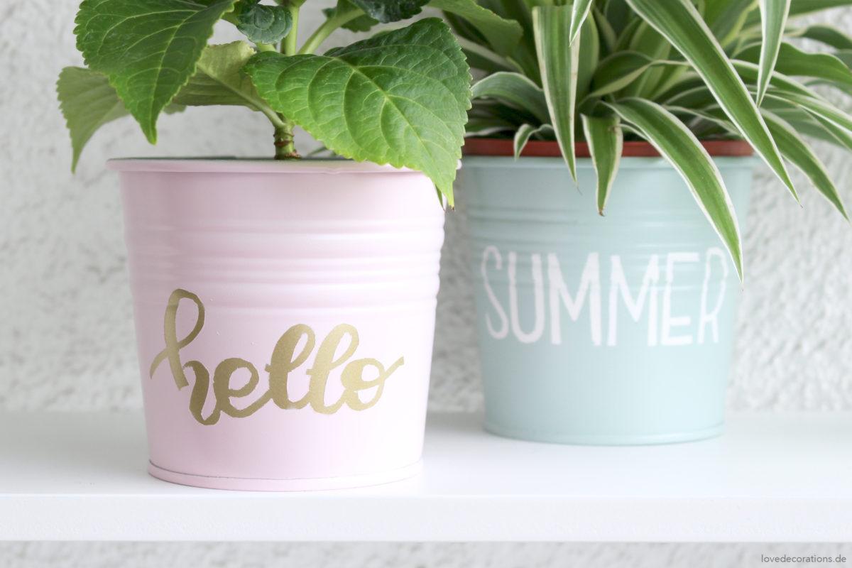 DIY Blumentöpfe mit Lettering | DIY handlettered Plantpots
