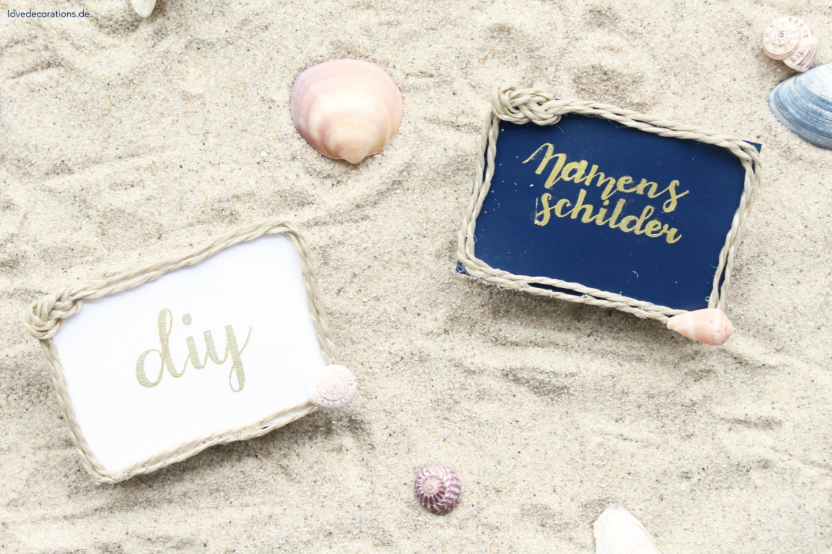 DIY Namensschilder im Maritim-Style | DIY Name Tags in Maritime Style