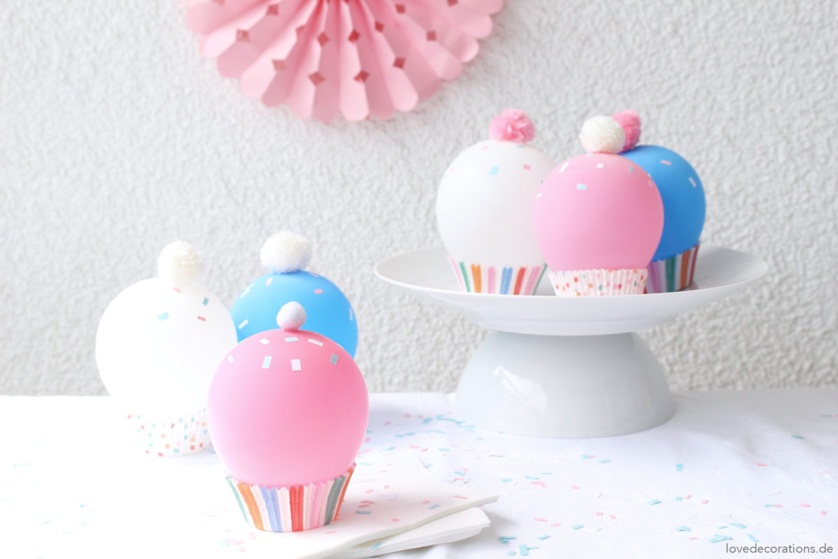 diy luftballon cupcakes pastell dich auf den sommer ein love decorations. Black Bedroom Furniture Sets. Home Design Ideas