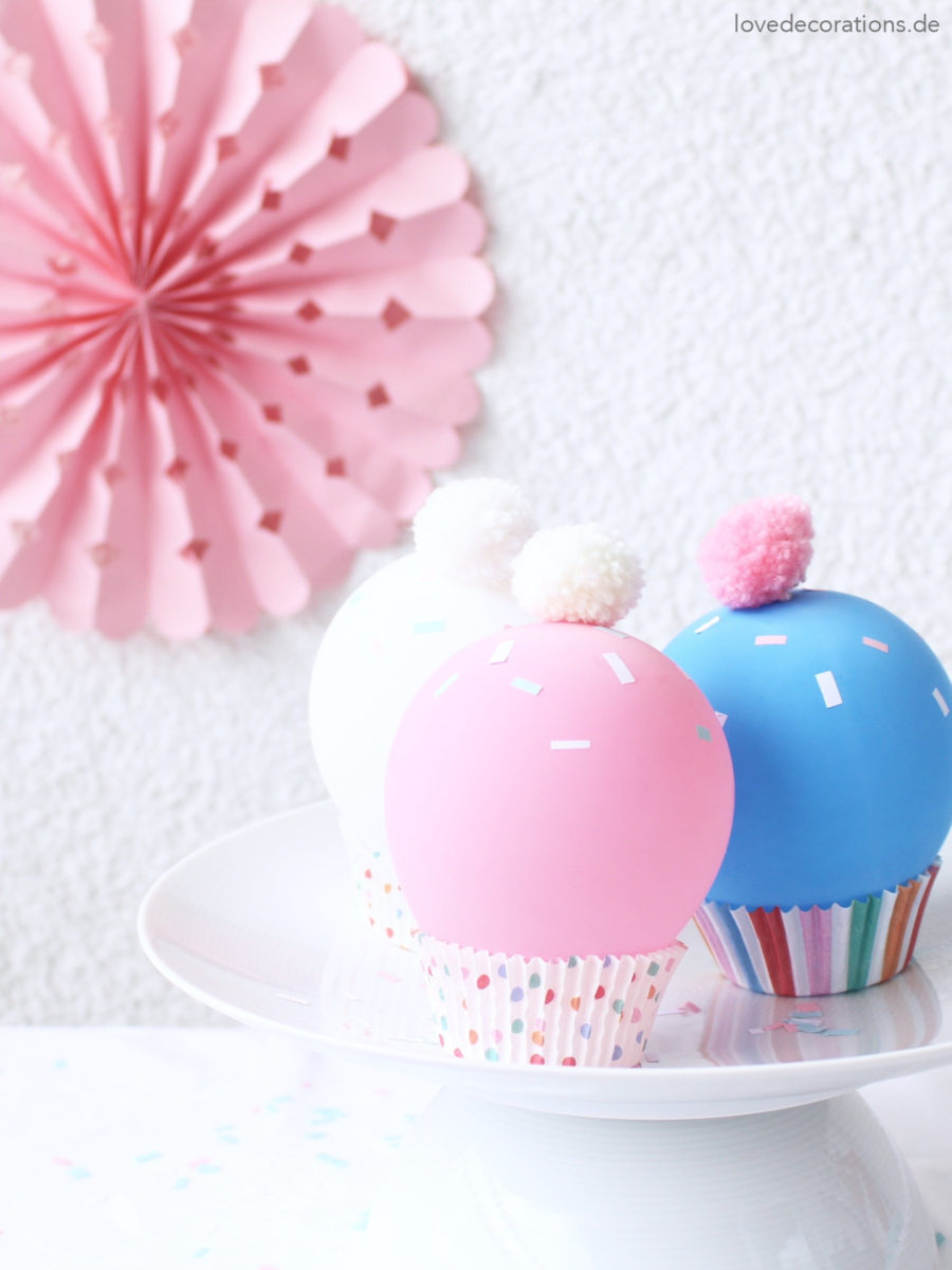 DIY Luftballon Cupcakes | DIY Balloon Cupcakes