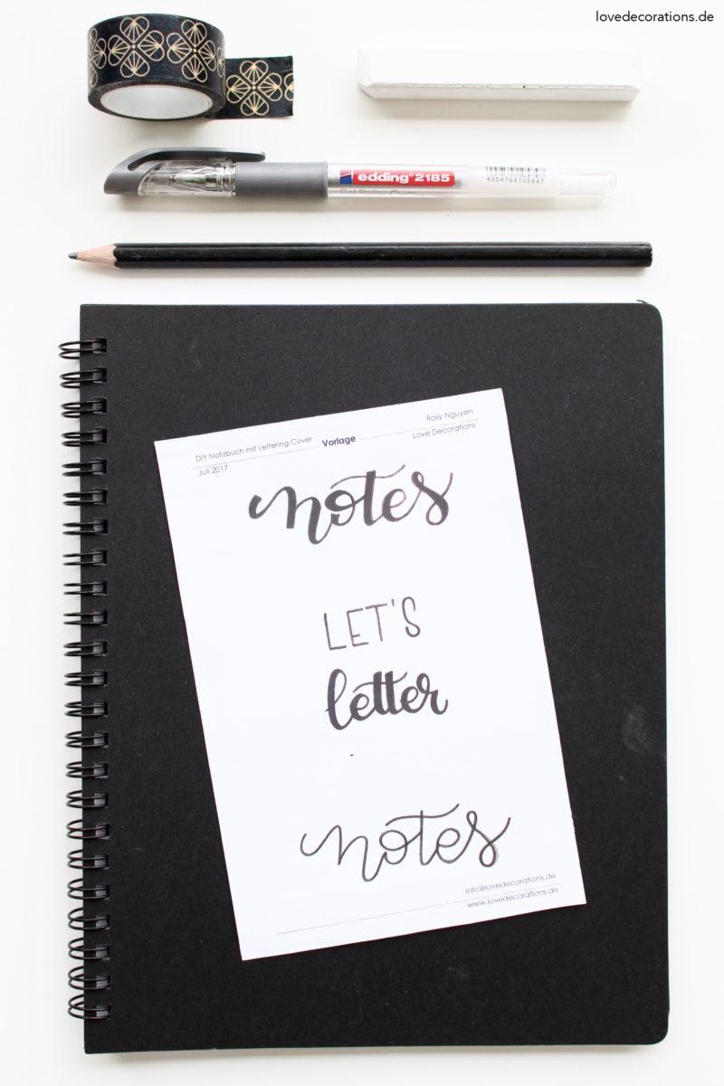 DIY Notizbücher mit Lettering-Cover | DIY handlettered Notebook Cover