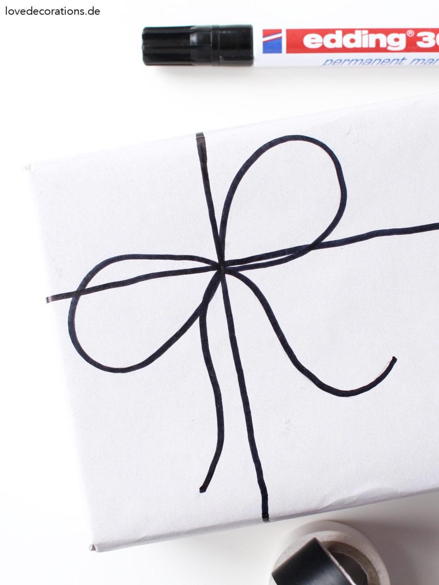 Diy Schleife Auf Geschenkpapier Malen Insta Stories Love Decorations