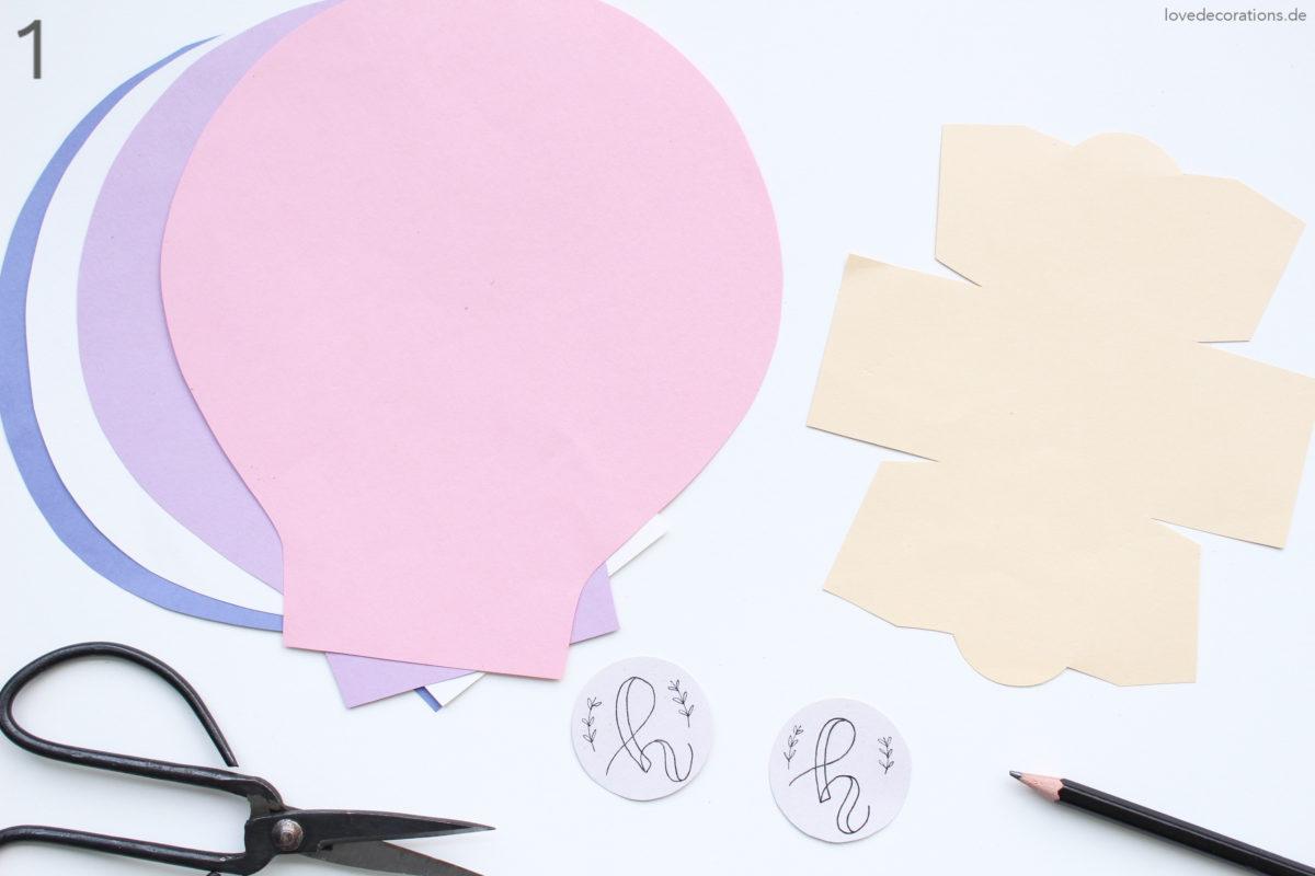 DIY 3D Heißluftballon | #12giftswithlove 2017 - Love Decorations