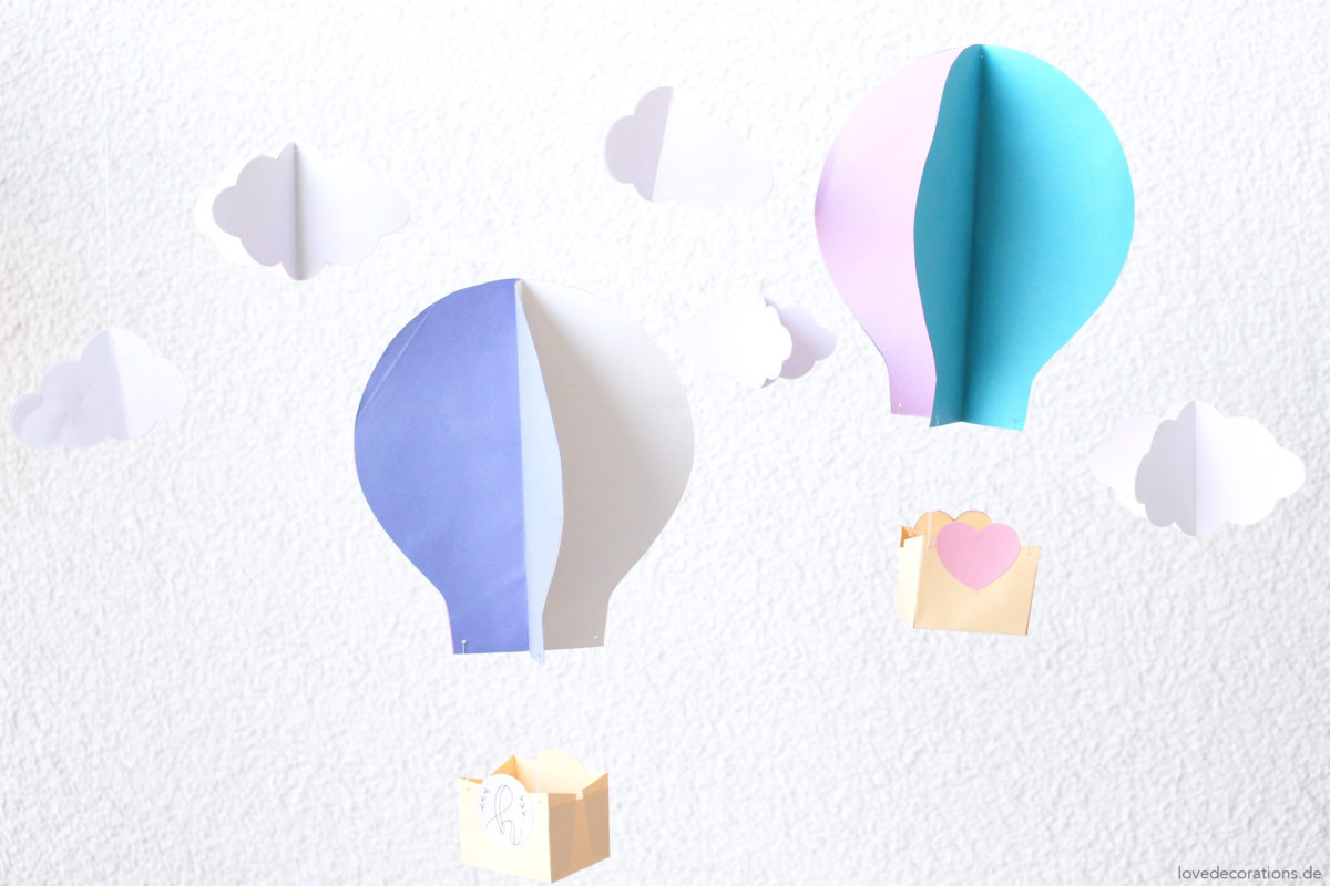 DIY 3D Heißluftballon | #12giftswithlove 2017