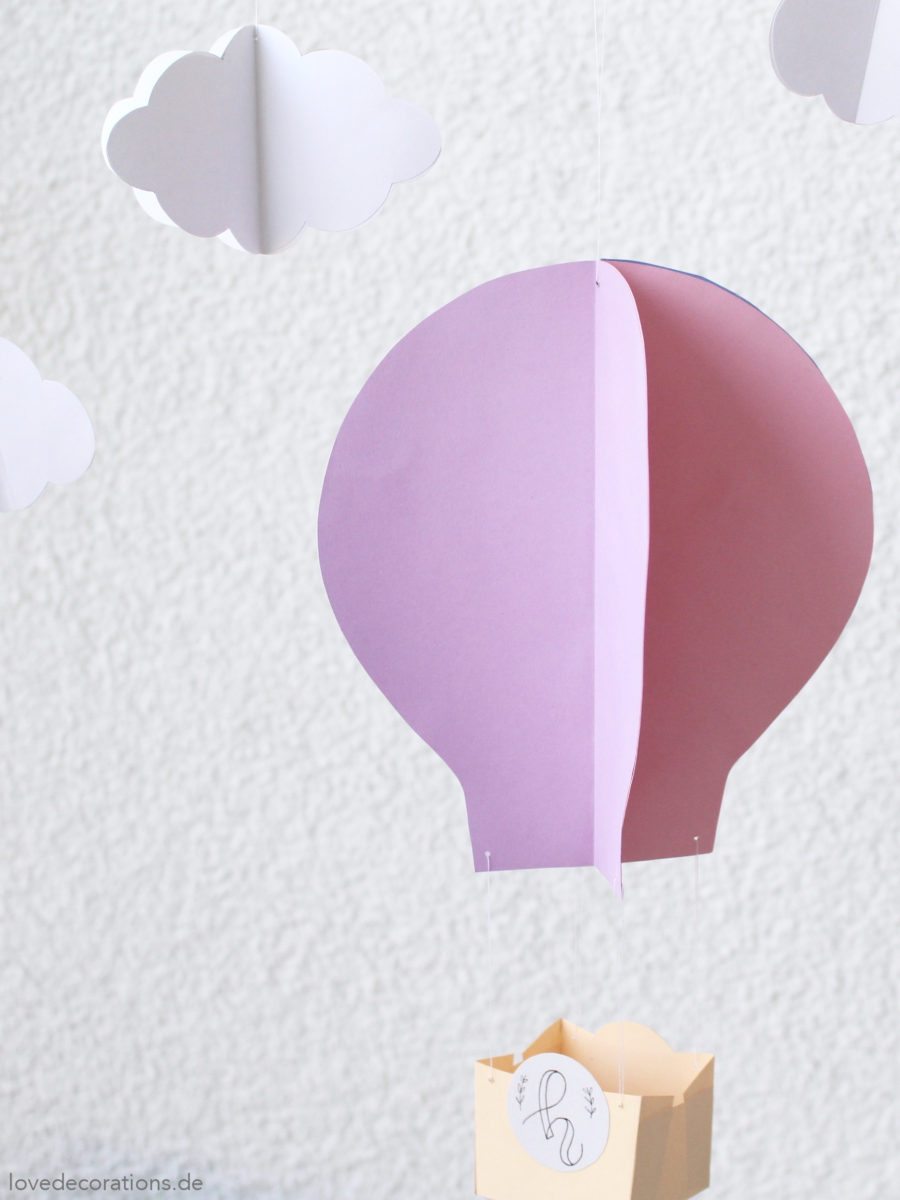 DIY 3D Heißluftballon | DIY 3D Hot Air Balloon