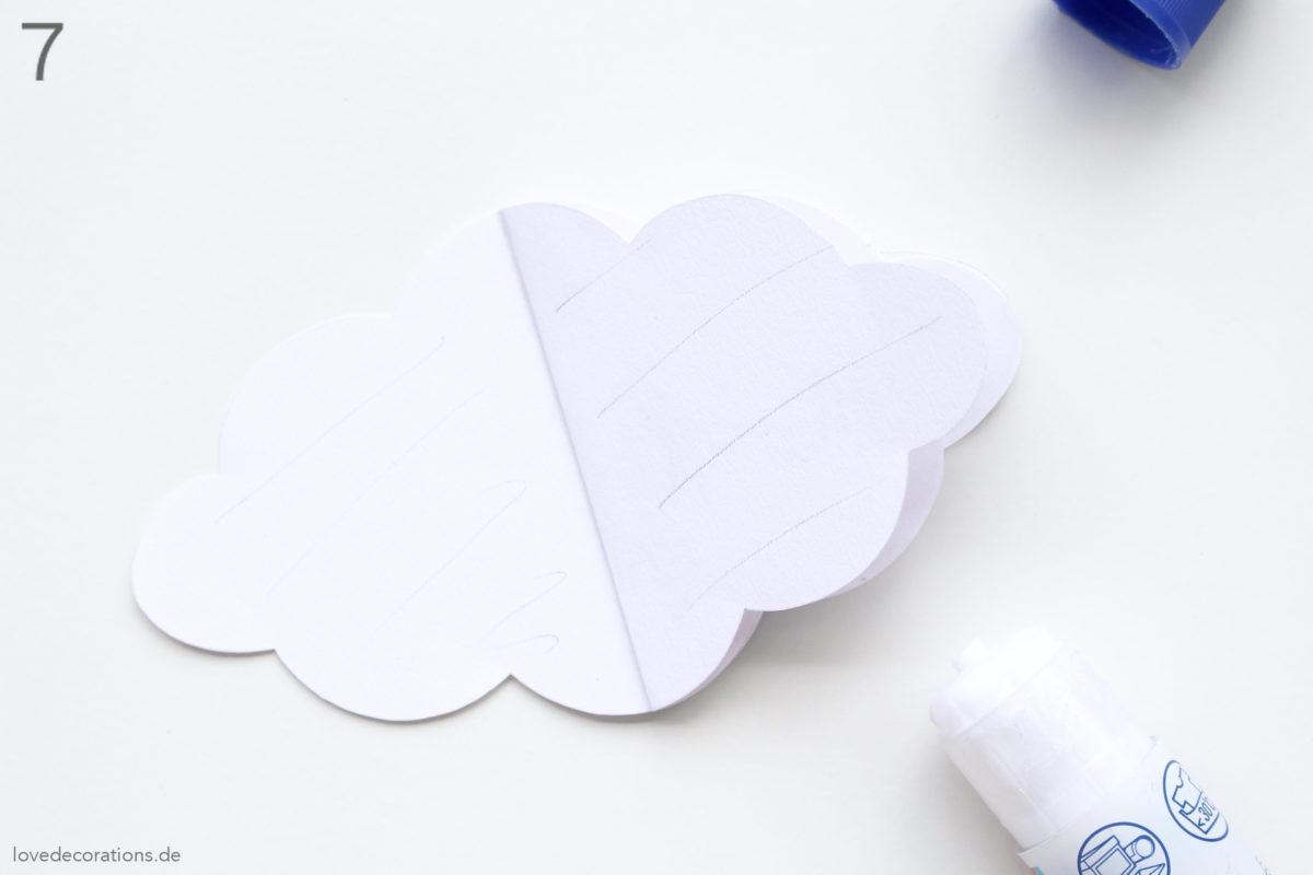 DIY 3D Wolken aus Tonpapier | DIY 3D Clouds