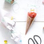 DIY Eiswaffel in einer Schultüte + mein Berufswunsch