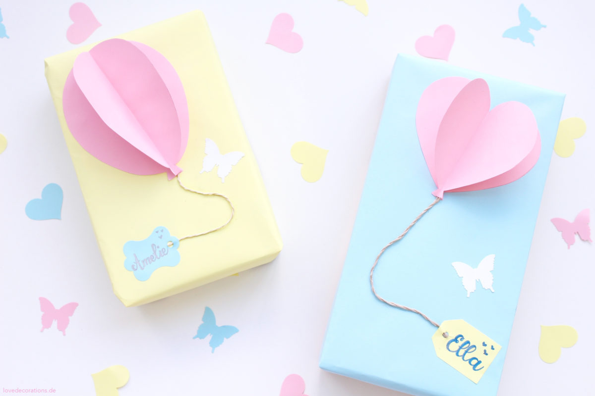 DIY Balloon Gift Wrapping | DIY Luftballon Geschenkverpackung