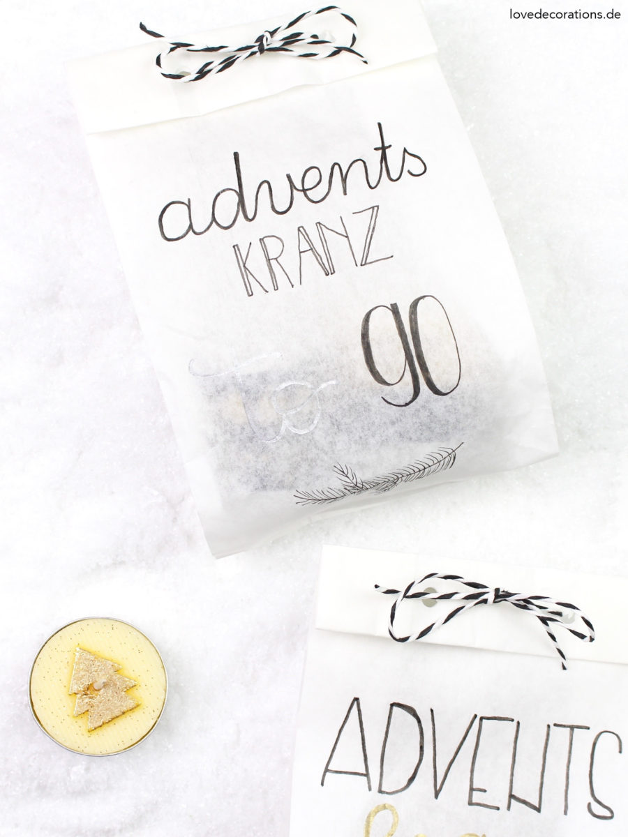 DIY Adventskranz to Go | DIY Advent Wreath to Go