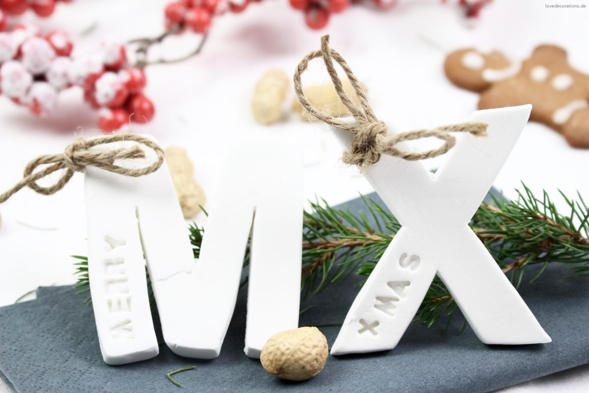 DIY Christmas Fimo Name Tag | DIY weihnachtliche Fimo Namensschilder