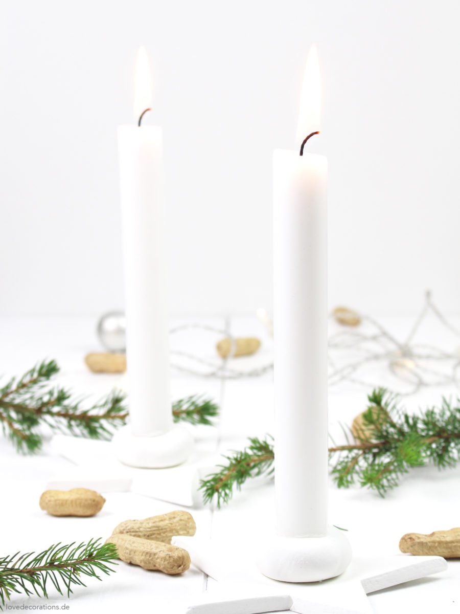 DIY fimo star candle holder for christmas | DIY weihnachtlicher Fimo Kerzenständer