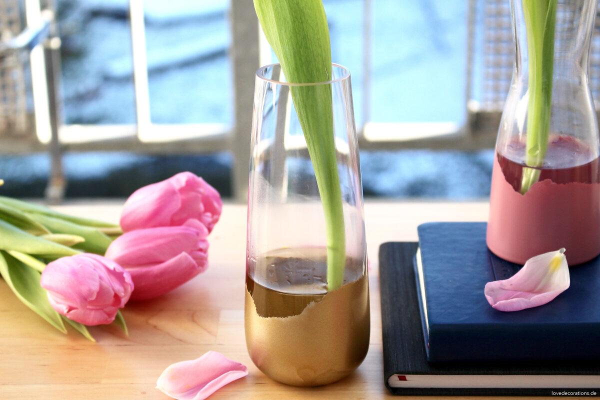 DIY Vase aufhübschen #1 + warum der Blog zu kurz kommen musste