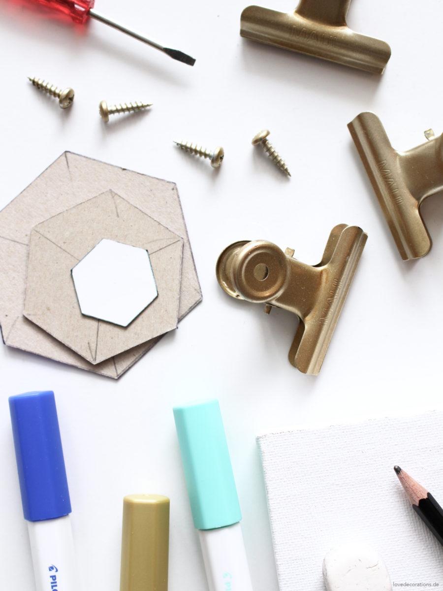DIY Canvas Clipboard | DIY Deko-Klemmbretter aus Leinwänden mit geometrischen Mustern
