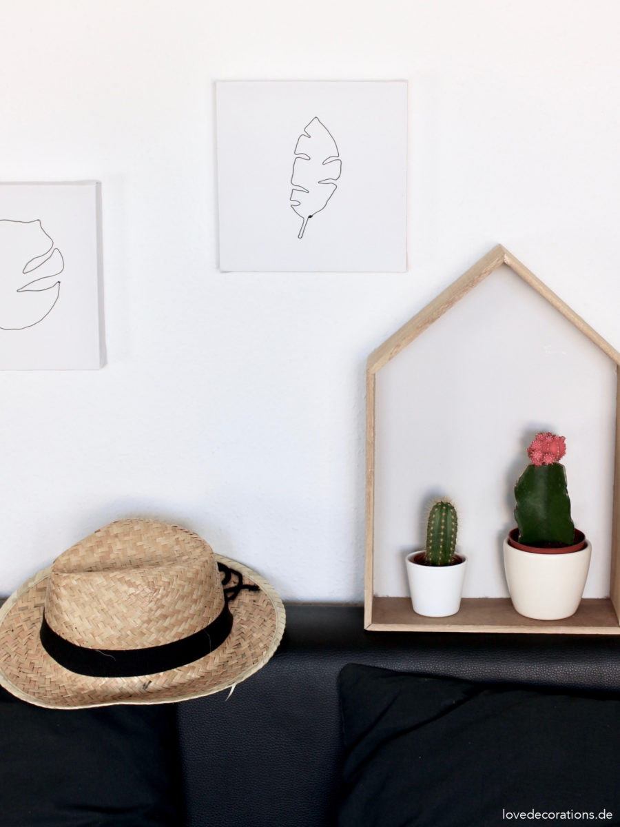 DIY Urban Jungle Wanddeko aus Draht | DIY Urban Jungle Wall Decor made of Wire