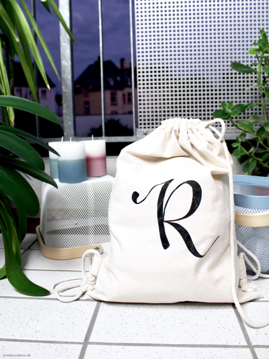 DIY Turnbeutel mit Monogramm | DIY Monogram Gym Bag