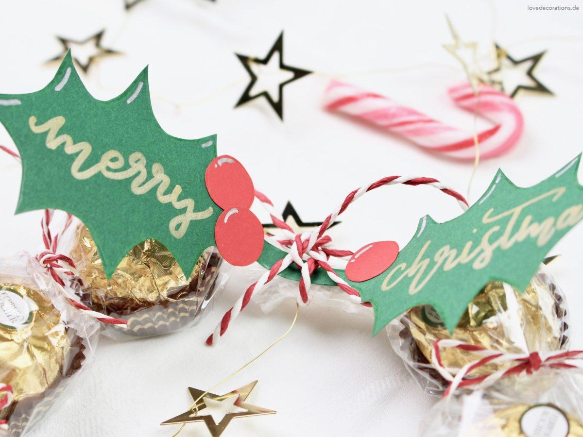 DIY sweet Christmas Wreath | DIY süßer Weihnachtskranz Mitbringsel