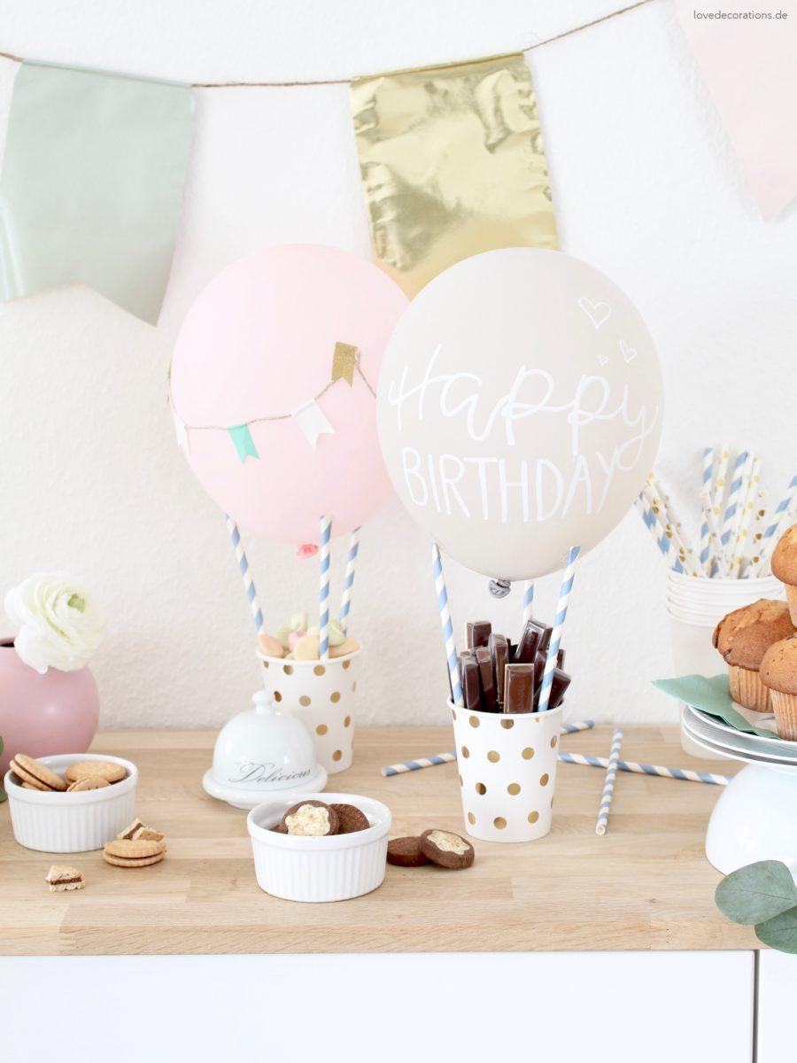 DIY Heißluftballon als Snack Holder für den Geburtstagstisch oder die Candy Bar | #happybirthdaymissredfox – 5. Bloggergeburtstag