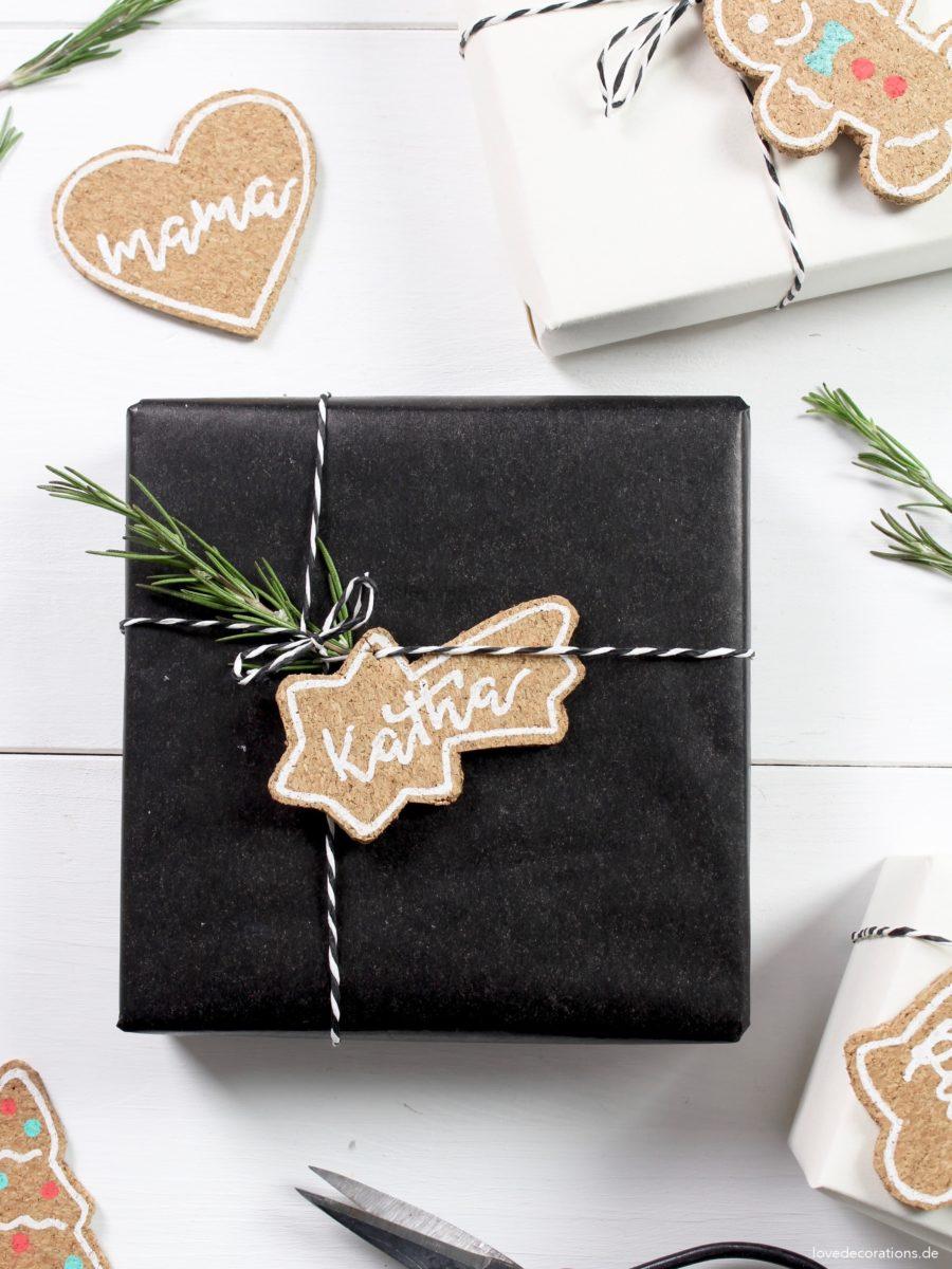 DIY Christmas Ornaments made of Cork | DIY Kork Weihnachtsanhänger für Geschenke + Weihnachtsbaum
