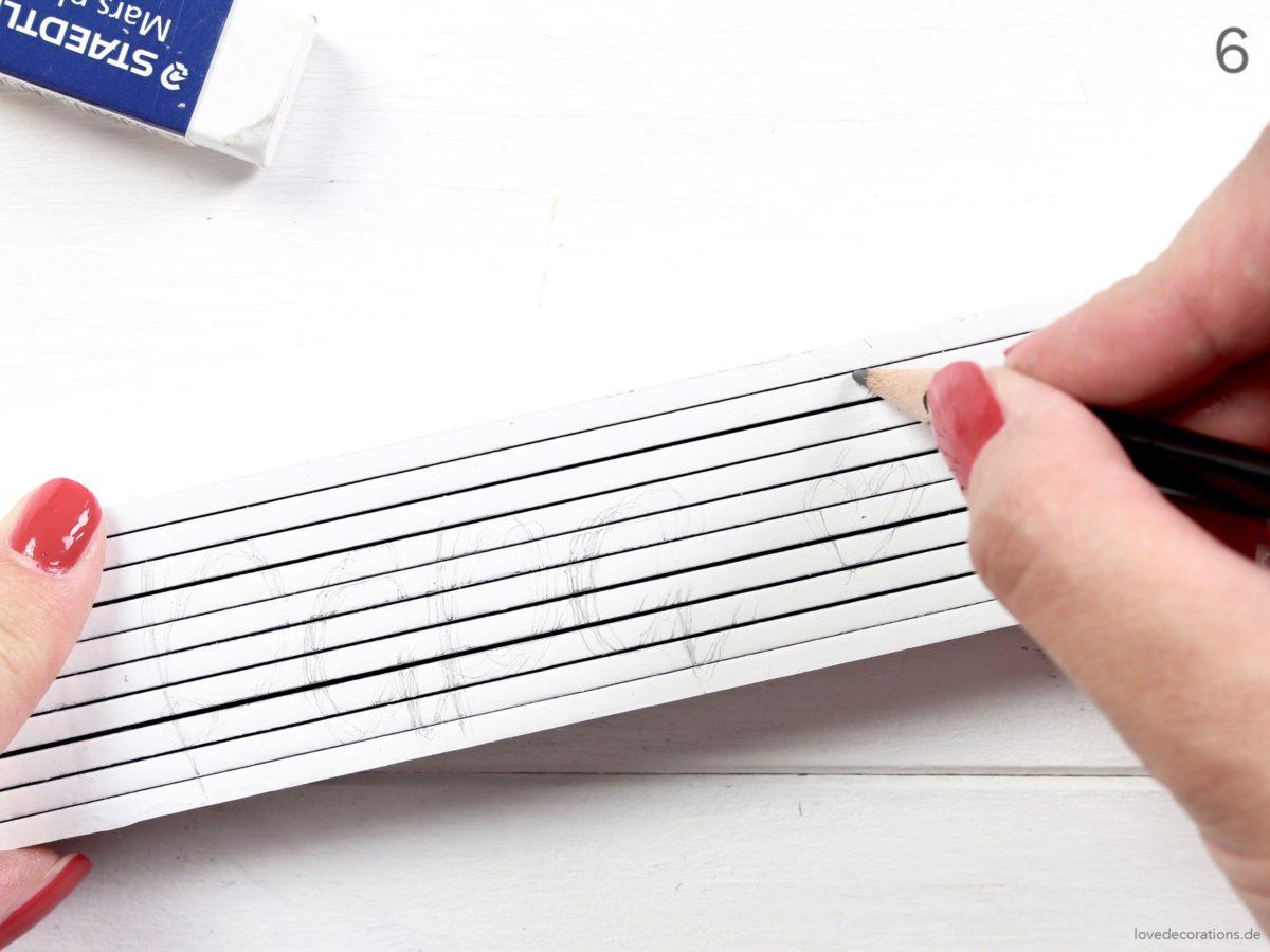 DIY personalized Folding Rule/Inch Rule for Daddy | DIY Zollstock personalisieren für den Vatertag