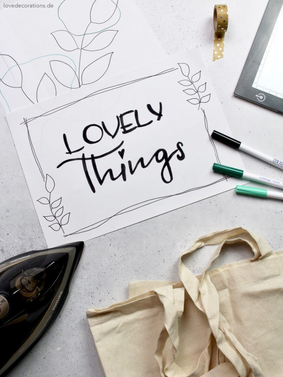 DIY Lovely Things Jutebeutel