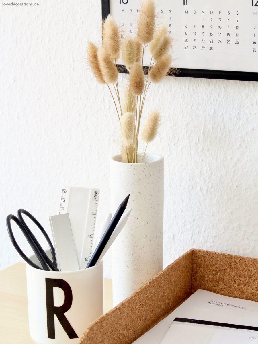 DIY Papierablage aus Kork