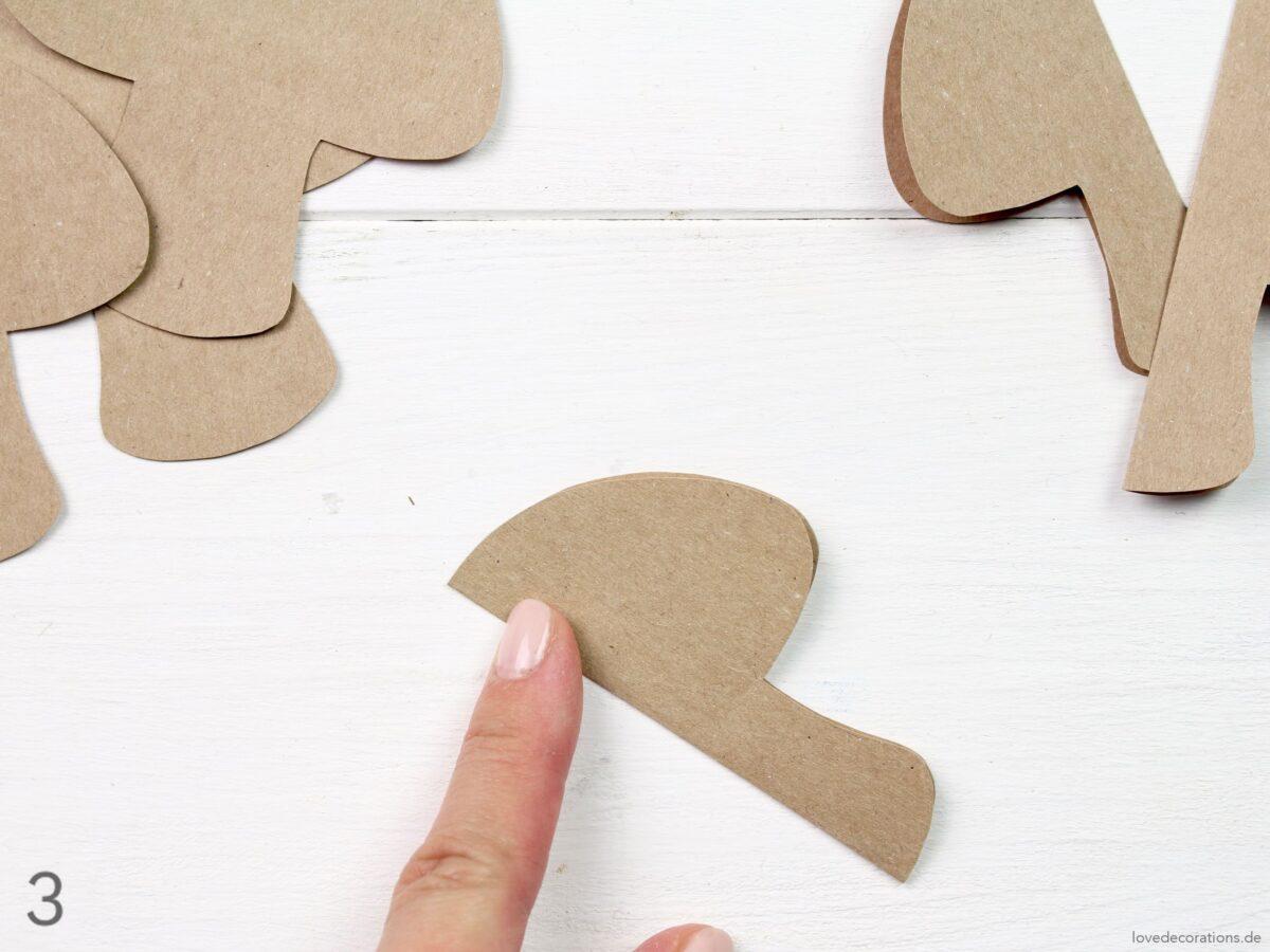 DIY 3D Papier-Pilze